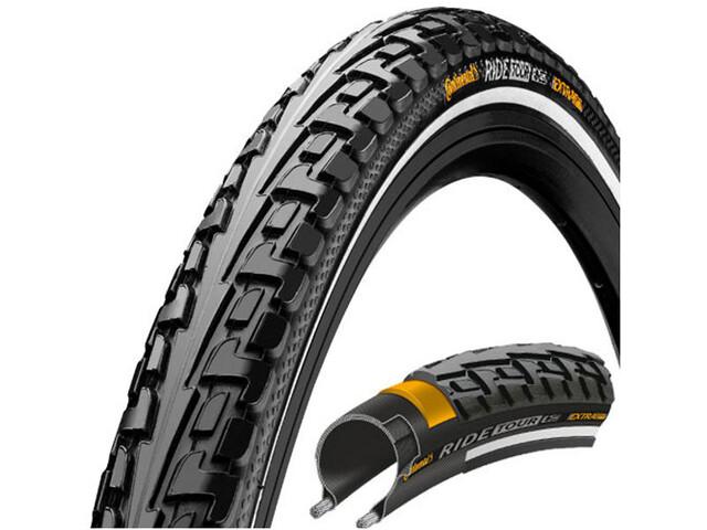 "Continental Ride Tour Clincher Tyre 26/27,5 x 1 1/2 x 2"" Reflex, black/black"